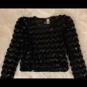 Black sequin Sans Souci shirt